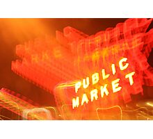 The Drunken Market Photographic Print