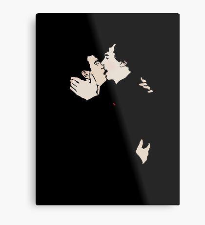 KISSING SHERLOCK AND JOHN Metal Print