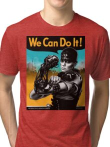 We Can Do It (Furiously) - light colors Tri-blend T-Shirt