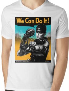 We Can Do It (Furiously) - light colors Mens V-Neck T-Shirt