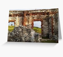 Old wall, older walls Greeting Card