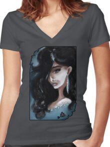 Edgar Allan Poe: Ligeia Women's Fitted V-Neck T-Shirt