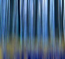 abstract blue forest  by kittenmomo