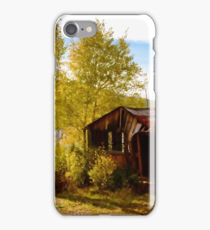 Abandoned Cabin in Autumn iPhone Case/Skin