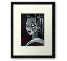 Geisha in the Machine: The Illusional Concubine Framed Print