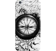 A Tale of 2 maps - B/W iPhone Case/Skin