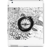 A Tale of 2 maps - B/W iPad Case/Skin