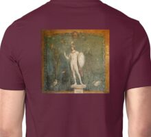 Naked, Man, Spear & Shield, Bare Helmeted Warrior, Fresco at Pompeii Unisex T-Shirt