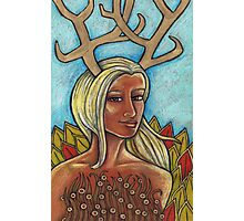 Deer Woman Photographic Print