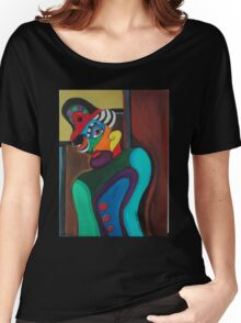 Man With Hat Women's Relaxed Fit T-Shirt