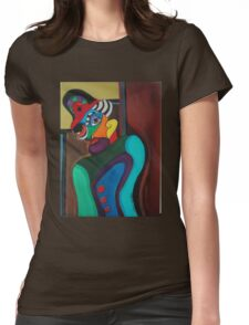 Man With Hat Womens Fitted T-Shirt