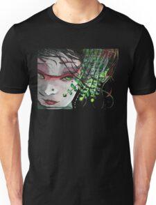 Geisha in Leaves: The Sentimental Concubine Unisex T-Shirt