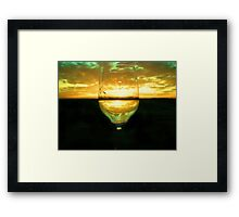 Wine Inversion Framed Print
