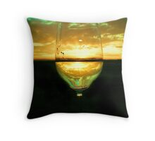 Wine Inversion Throw Pillow