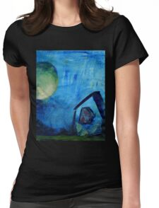 blue house Womens Fitted T-Shirt