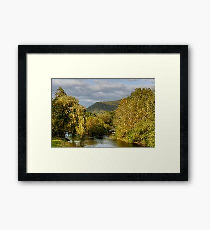 Autumn Evening Along Trout Run Creek Framed Print