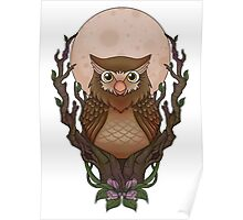 Owly-white- Poster
