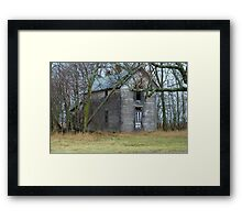 Empty ......OLD .. and Standing Proud. Framed Print