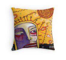 Solar Particles Throw Pillow