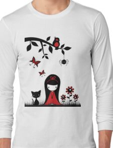 Little Red Ribbon Head Long Sleeve T-Shirt