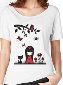 Little Red Ribbon Head Women's Relaxed Fit T-Shirt