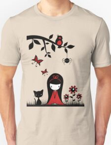 Little Red Ribbon Head Unisex T-Shirt