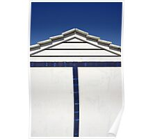 Close-up of Blue and White Beach Hut, Spain  Poster