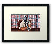 Retro-Robot Love Framed Print