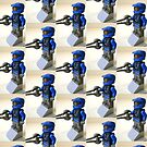 Blue Spartan Soldier Custom Minifig by Customize My Minifig