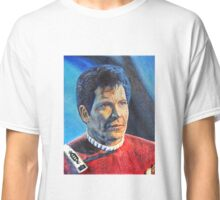 Shatner as Kirk in colored pencil  Classic T-Shirt
