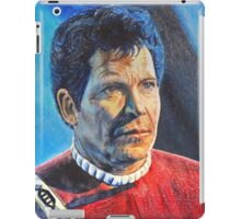 Shatner as Kirk in colored pencil  iPad Case/Skin