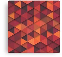 Abstract Cubes - Orange Canvas Print