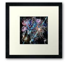 New Visions (Swarm Clouds) - Image & Poem Framed Print