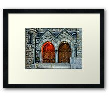 Stronghold of Faith Framed Print