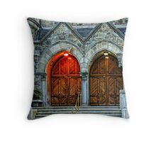 Stronghold of Faith Throw Pillow