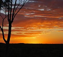 Red Dirt Sunsett, Pannawonica WA by Emma Rice