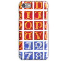 Uncials A to Z with Numbers iPhone Case/Skin