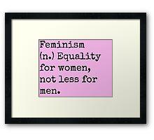 Feminism Framed Print