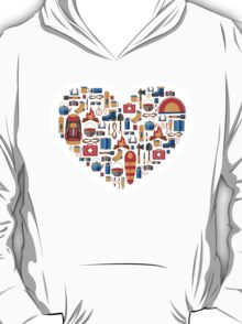 Hiking and tourism love T-Shirt