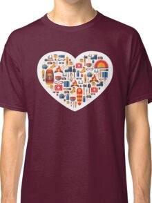 Hiking and tourism love Classic T-Shirt