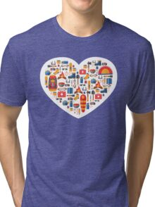 Hiking and tourism love Tri-blend T-Shirt