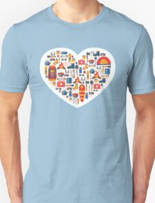 Hiking and tourism love Unisex T-Shirt