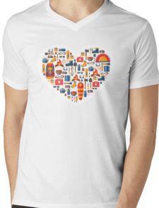 Hiking and tourism love Mens V-Neck T-Shirt
