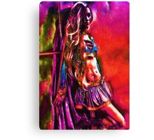 Wall Flower Super Girl  Canvas Print