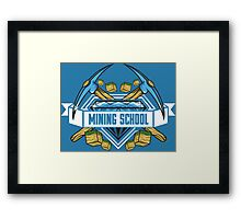 Mining School Framed Print