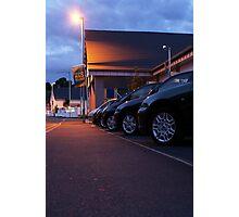 Sodium light at the car lot Photographic Print
