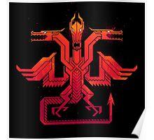 Red Dragon Sigil Poster