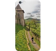 Walking through dandelions and history iPhone Case/Skin