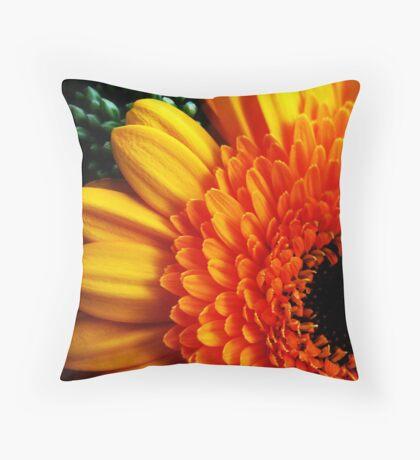 Orange Flower One Throw Pillow