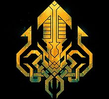 Golden Kraken Sigil by etall